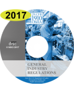 OSHA General Industry Regulations 29 CFR 1910 2017 Edition on CD