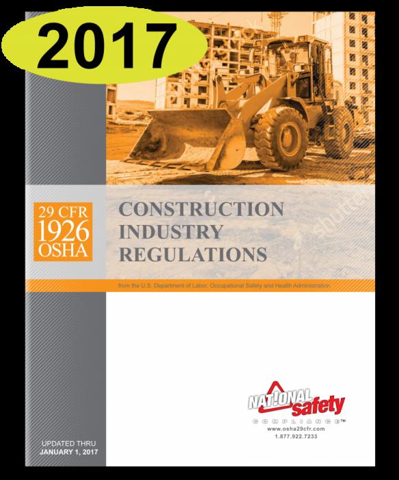 OSHA Construction Industry Regulations 29 CFR 1926 2017 Edition Book  English-Spanish