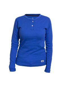 Classic Cotton Women's FR Henley Shirt - C54MSBSLSW