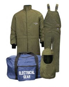 Level 4 ArcGuard® RevoLite™ Short Coat & Bib Overall Arc Flash Kit No Gloves - KIT4SCLT40NG