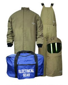 Level 4 ArcGuard® Protera® 40cal Short Coat & Bib Overall No Gloves - KIT4SCPR40NG