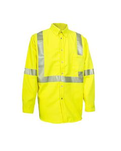 NSA Hi-Vis Work Shirt with Segmented FR Reflective Trim - SHRTVRG3C3