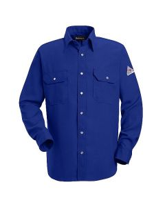 Nomex Shirt Snap Front Closure Roayl Blue