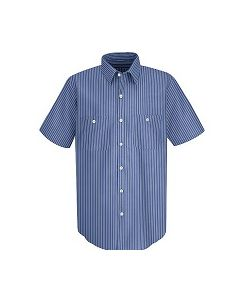 Red Kap Classic Striped Auto Work Shirt Short Sleeve SP20