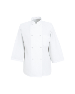 7 oz. 3/4 Sleeve Chef Coat Red Kap - 0402