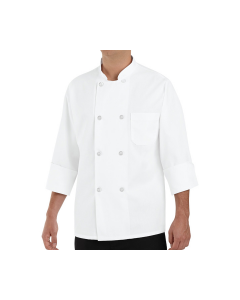 7 oz. Eight Pearl Button Chef Coat Red Kap (No Thermo Pocket) - 0403