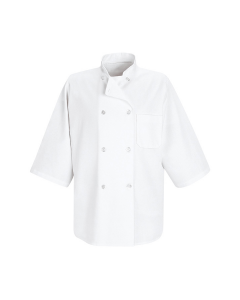 7 oz. 1/2 Sleeve Chef Coat Red Kap - 0404