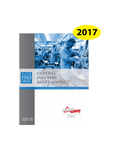 OSHA General Industry Regulations 29 CFR 1910 2017 Edition Book