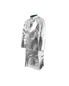 "Foundry Jacket 45"" Long 13 oz. Aluminized Carbon Kevlar®/Green Sateen Back Coat NSA Fusion - C22NJ45008"
