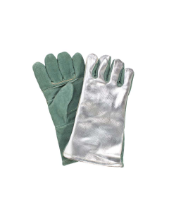"NSA 13"" Aluminized Leather Back Glove with Leather Palm & Extra Palm Insulation - DJXG1788DBWLSP"
