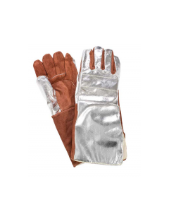 "NSA 16.5"" Thermal Leather Palm Glove with Aluminized Rayon Back - DJXG705165XL"