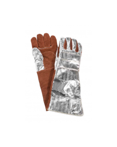 "NSA 18.5"" Thermal Leather Palm Glove with Aluminized Rayon Back - DJXG705185XL"