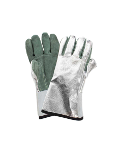 "NSA 13"" Leather Palm Glove with Aluminized Carbon Kevlar Back - DJXGSP382"