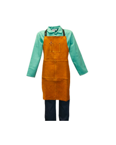 Stanco Gold Band Leather Bib Apron  GB236B