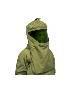 NSA Revolite 40 cal Hood With Faceshield and Hard Hat  H65NPQHHATLT