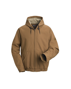 "Bulwark Excel Comfortouch Brown Duck Hooded Jacket - JLH4 ""FREE SHIPPING"""