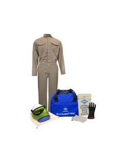 NSA Level 2 Protera® Coverall Arc Flash Kit with Gloves - KIT2CVPR08