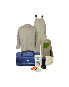 Level 4 ArcGuard® Economy™ 40cal Arc Flash Kit with Short Coat and Bib Overalls - KIT4SC40EC