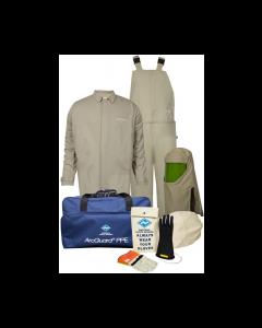 Level 4 ArcGuard® Economy™ 40cal Arc Flash Kit with Short Coat and Bib Overalls - KIT4SC40EC