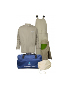 Level 4 ArcGuard® Economy™ 40cal Arc Flash Kit with Short Coat and Bib Overalls No Gloves - KIT4SC40ECNG