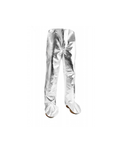 NSA Standard 19 oz. Aluminized Carbon/Para-Aramid Chaps with Aluminized Foot Flap - L40NLNL38