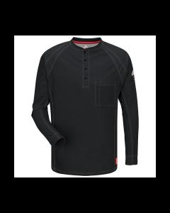 8.2 cal Long Sleeve Henley Shirts CAT2 Bulwark IQ Series  QT20