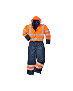 High Vis Contrast Insulated Coveralls Portwest - S485