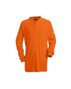 Bulwark Excel Long Sleeve Henley Work Shirts Style SEL2