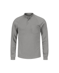 Bulwark Long Sleeve Tagless Henley Shirt - SML2