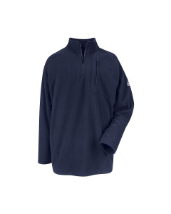 1/4 Zip-Front Modacryclic FR Fleece Sweatshirt CAT2 Bulwark - SMZ6