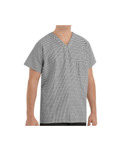 4.2 oz. Checked V-Neck Chef Shirt Red Kap - SP08