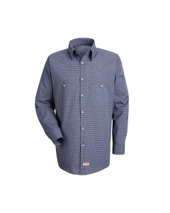 Red Kap Micro-Check Work Shirt - Long Sleeve - SP10