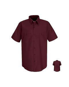 Red Kap Men's Short Sleeve Industrial Work Shirt - SP24