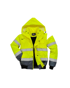 High Visibility Heavyweight Fur Lined Bomber Jacket Portwest - UC465