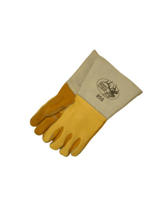 Stanco Unlined Insulated Back Reverse Grain Gold Elkskin High Quality Welding Gloves  W850